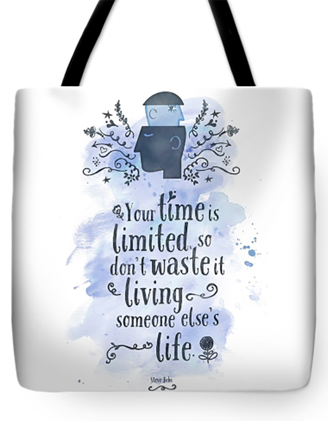 Tote Bag with Steve Jobs Quote design by Pablo Montes