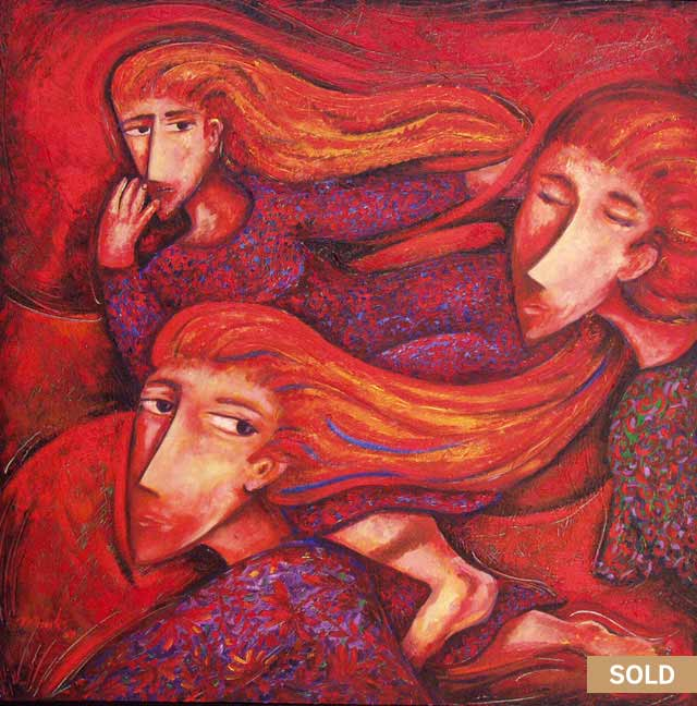 Women escaping oil Painting by Pablo Montes