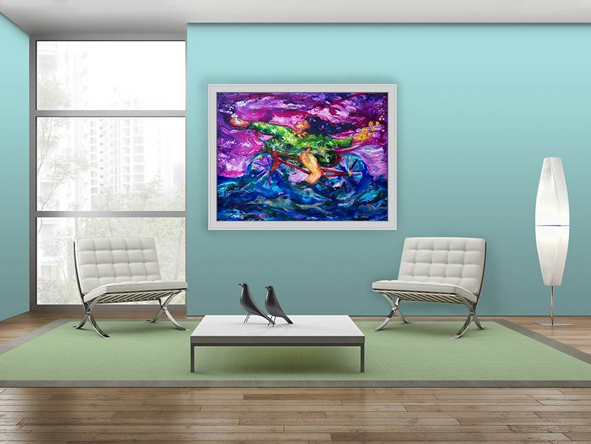 Situ for Happy, The Aquatic Traveler acrylic painting by Pablo Montes