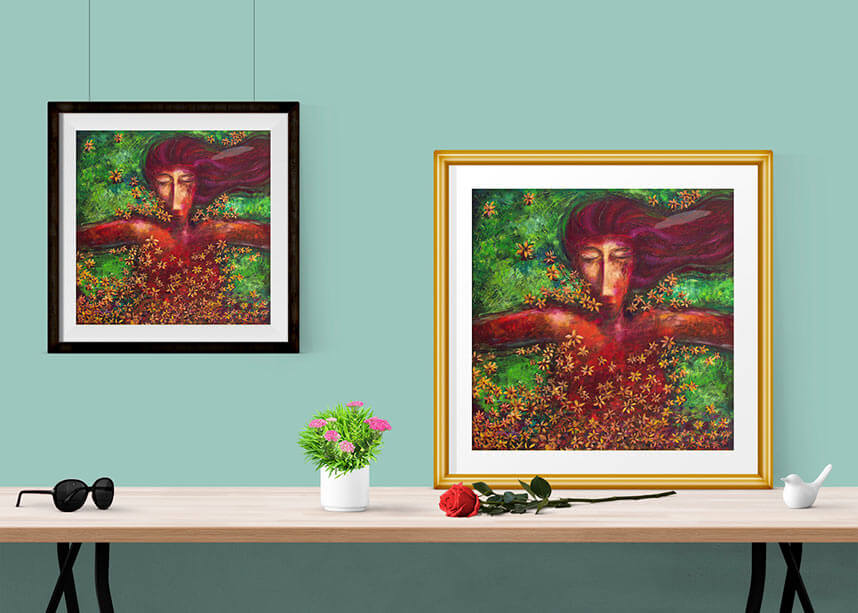 Situ for La Nena y La Paz (Sleeping Girl) prints from an original oil painting by Pablo Montes