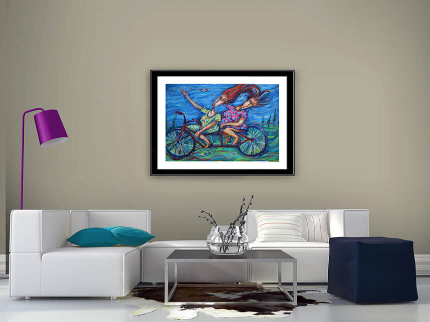 Situ for Pasa-Tiempo prints from an original acrylic painting by Pablo Montes
