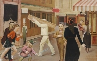 The street, Painting by Balthus