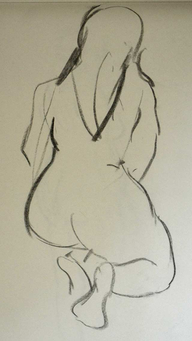 Sitting woman sketch 1 by Pablo Montes