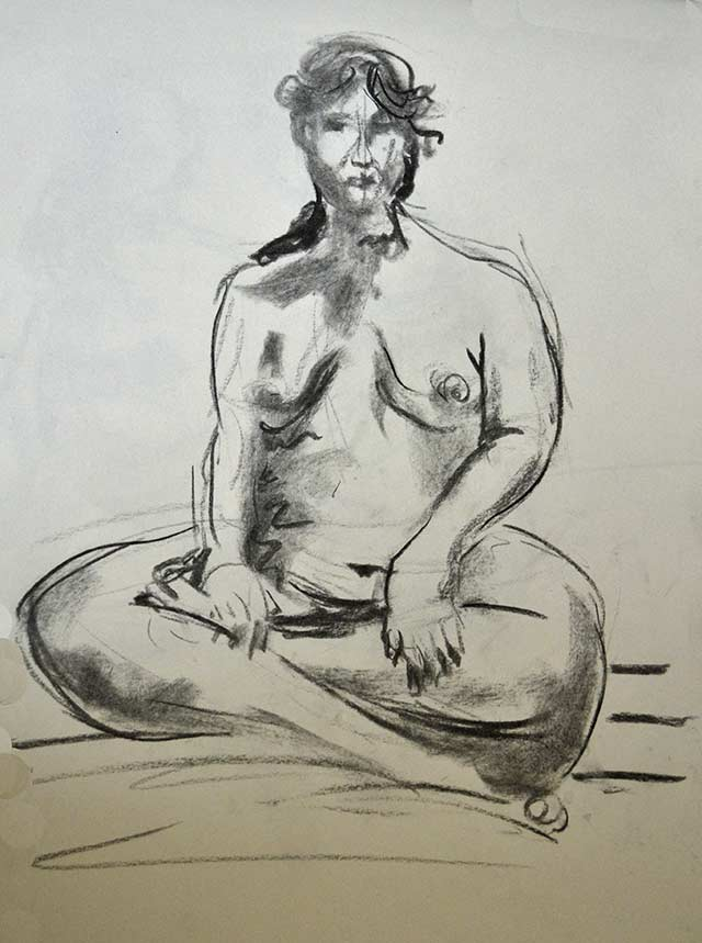 Sitting woman sketch 12 by Pablo Montes