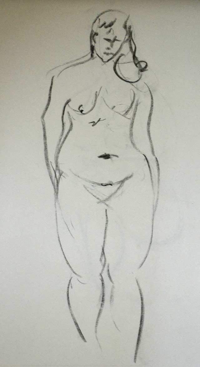 Standing woman sketch 4 by Pablo Montes