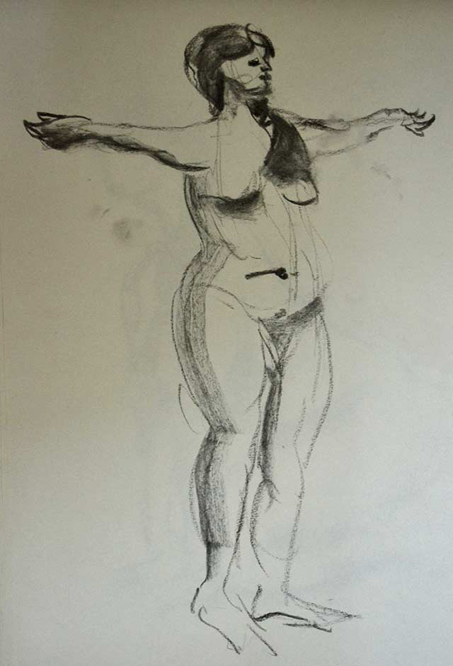 Standing woman sketch 5 by Pablo Montes