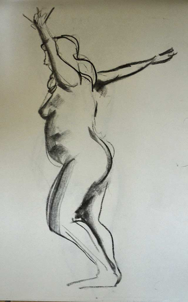 Standing woman sketch 6 by Pablo Montes
