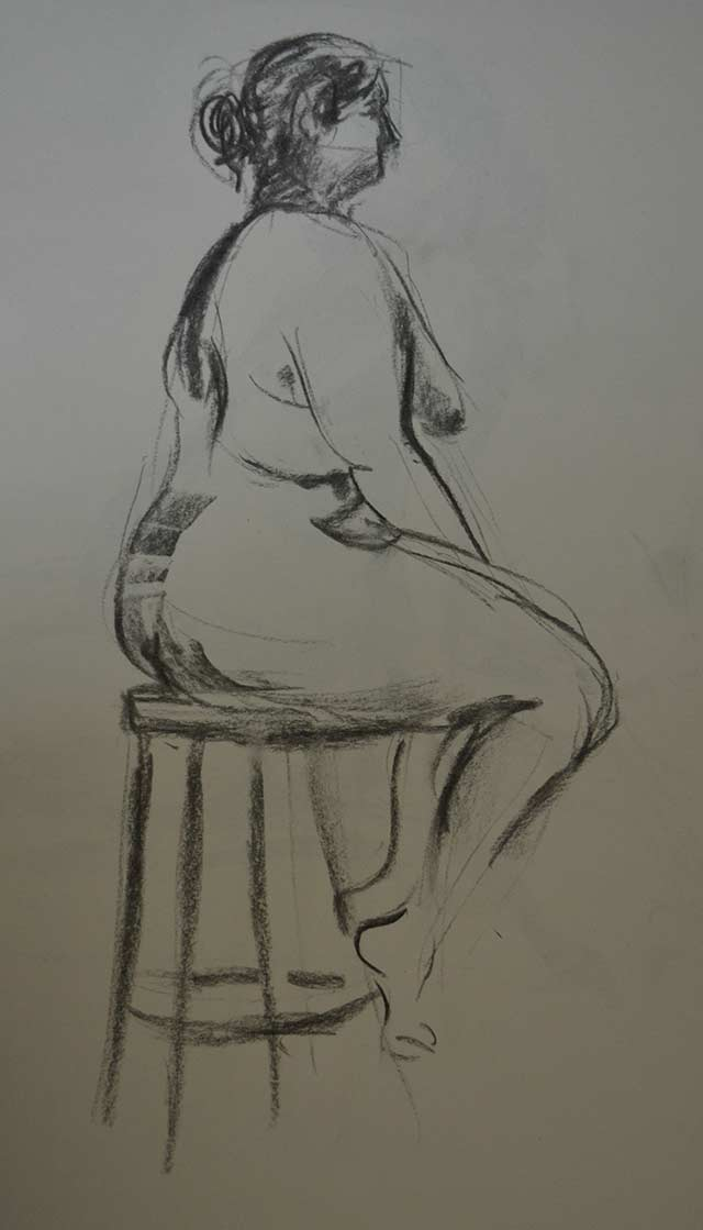 Sitting woman sketch 9 by Pablo Montes