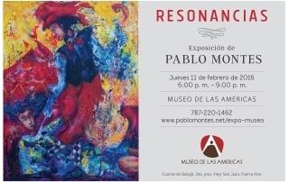 invitacion exposicion de Pablo Montes