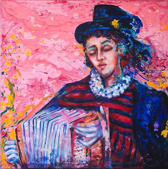 Melodía Rosada acrylic painting by Pablo Montes