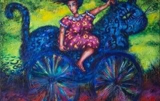 La Tarde del Bici-Gato acrylic painting by Pablo Montes