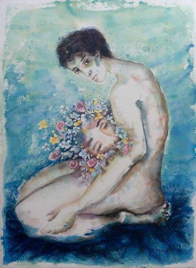 Rebirth, watercolor by Pablo Montes