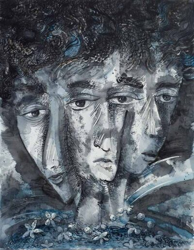 Three Moods, watercolor by Pablo Montes