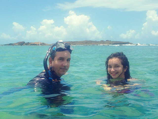 Snorkeling in the exotic Caribbean