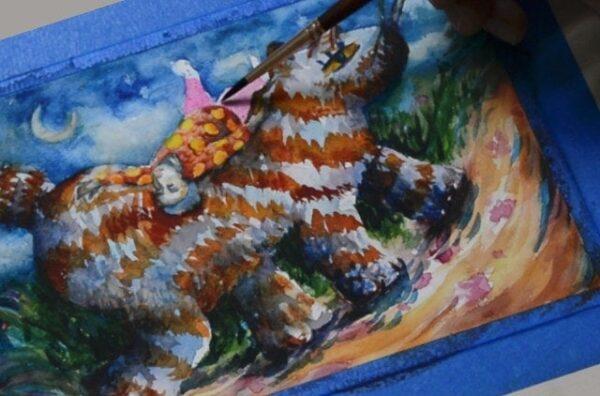 Watercolor Curioso en la indiferencia by Pablo Montes