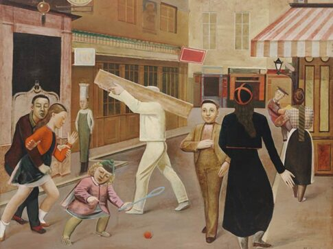 Obra The street – By Balthus 1933