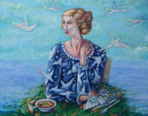 Vuelo de Mediodía, Painting by Pablo Montes